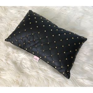 JUICY COUTURE faux leather pillow NEW